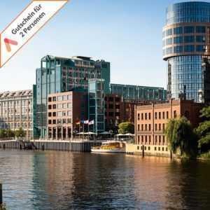 Kurzurlaub Berlin Luxus Hotel 2 Personen Deluxe Zimmer mit Spree Blick 2-4 Tage