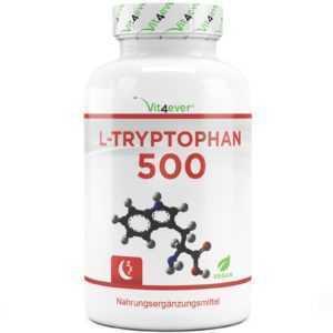 240x Kapseln L-Tryptophan 500 mg - Aminosäure - L-Tryptophane - Vit4ever - 5-HTP