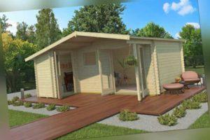Topgarden Gartenhaus BENNO 530x450 cm; 40 mm Doppelnut; +Boden; 2-Raum-Haus