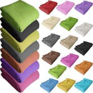 Waffelpique Tagesdecke Sofaüberwurf 100% Baumwolle Überwurf Decke Waffelpikee