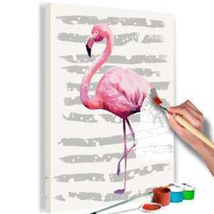 Malen nach Zahlen Erwachsene Flamingo Malset mit Pinsel Malvorlagen n-A-0365-d-a