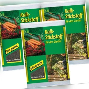 # 3x 5 kg Kalkstickstoff,Mineral Garten Dünger,Kompost,Obst,Kalk Stickstoff,15kg