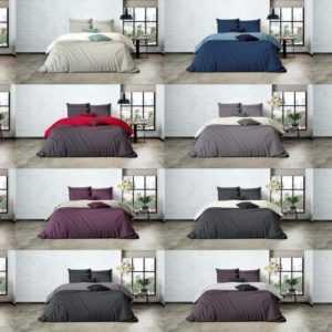 Uni Einfarbig Wende Bettwäsche Mistral Edel Perkal 100% Ägyptische Baumwolle