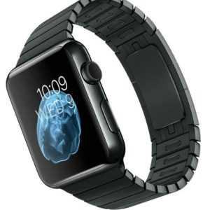 Apple Watch MJ482S/A 42mm A1554 Edelstahl Gliederarmband Black Neu OVP geöffnet