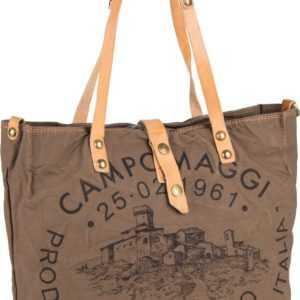 Campomaggi Handtasche Shopper C1671 Teodorano Verde Militare/Naturale/Stampa ab 186.00 () Euro im Angebot