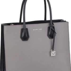 Michael Kors Handtasche Mercer Large Convertible Tote Python Pearl Grey/Black ab 315.00 (395.00) Euro im Angebot