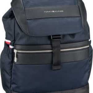 Tommy Hilfiger Rucksack / Daypack Nylon Mix Flap Backpack 4768 Tommy Navy ab 129.00 () Euro im Angebot