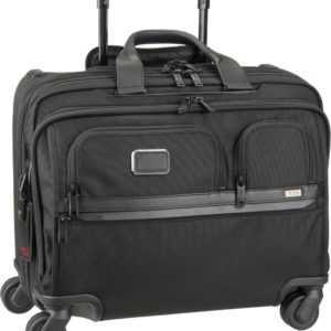 Tumi Pilotenkoffer Alpha 3 2603627 DLX 4 Whl Laptop Brief Case Black (27 Liter) ab 895.00 () Euro im Angebot
