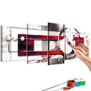 Malen nach Zahlen Erwachsene Wandbild Malset mit Pinsel Malvorlagen n-A-0624-d-m
