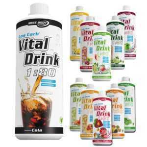 8,49€/Ltr. Best Body Nutrition Vital Drink 10 Flaschen Konzentrat Getränke Sirup