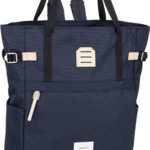 Sandqvist Rucksack / Daypack Roger Totepack Navy/Natural Leather ab 129.00 () Euro im Angebot