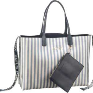 Tommy Hilfiger Shopper Iconic Tommy Tote Canvas Glitter (innen: Navy) ab 129.00 () Euro im Angebot