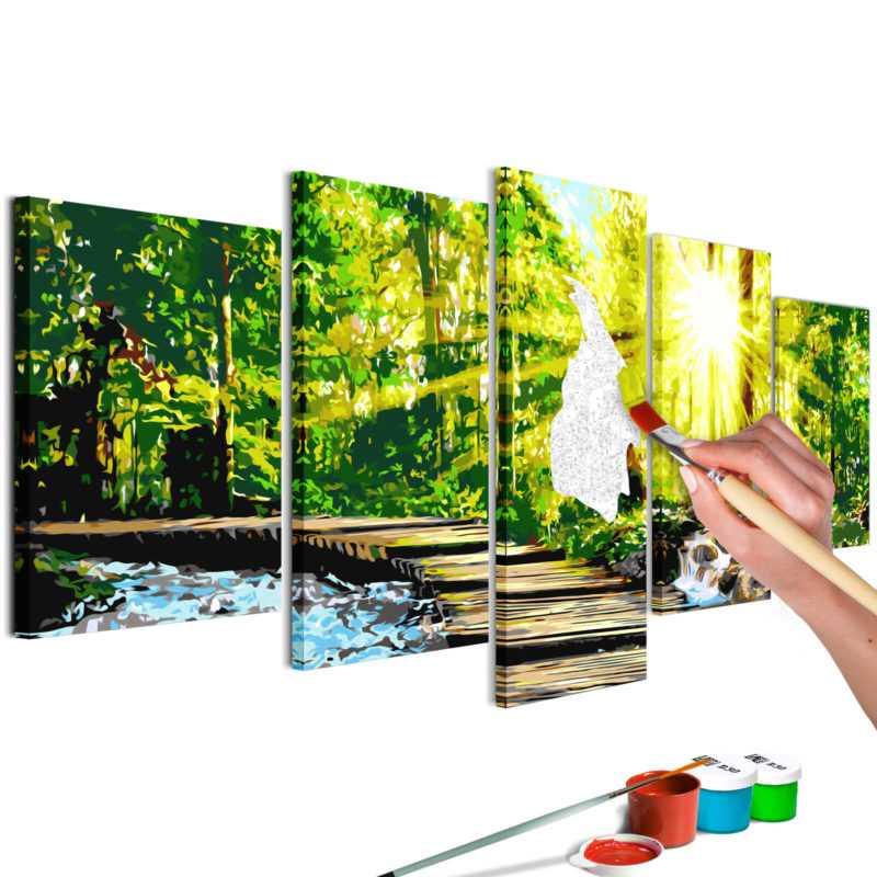 malen nach zahlen erwachsene wandbild 100x50 cm