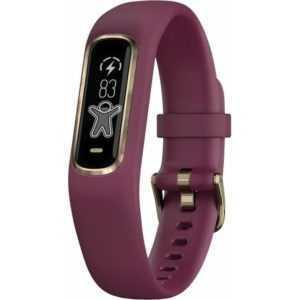 Garmin Vivosmart 4 Fitnesstracker dunkelrot/roségold Größe S/M Fitnessuhr