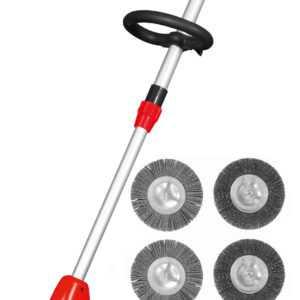 EFB Grizzly EFB 401 Fugenbürste elektrisch mit 4 Bürsten Sparset Fugen Kratzer