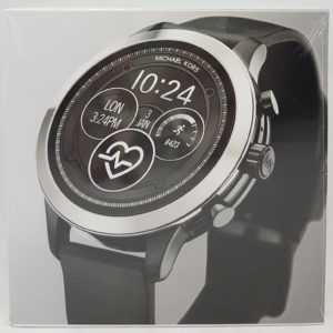 Michael Kors MKT5049 Smartwatch, Edelstahl, Silikon-Armband, silber/schwarz -Neu