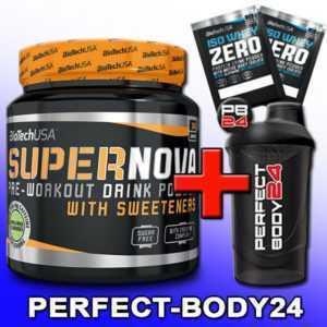 (77,98€/kg) BioTech USA Super Nova Pre-Workout Booster 282g Dose + Mega Bonus