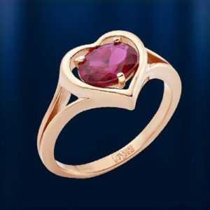 HERZ GOLDRING Russische Rose Rotgold 585 RING Korund Rubin 3.68g Neu Glänzend