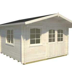 70 mm Gartenhaus mit Fußboden ca. 380x380 cm Gerätehaus Schuppen Holzhaus Holz