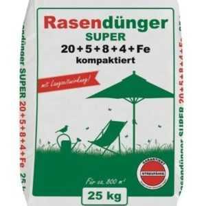 25 kg Premium Rasendünger Super mit Langzeitwirkung kompaktiert für 800 m²