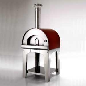 Pizzaofen Margherita 60 - Der mobile Holzbackofen für Garten, Terrasse u. Balkon; EEK C