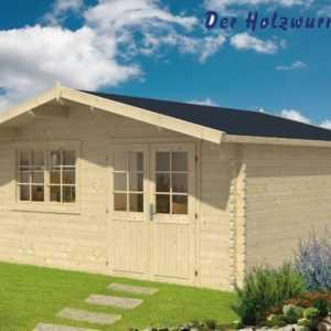 44 mm Gartenhaus ca. 500x500 cm Blockhütte Schuppen Gerätehaus Holzhaus Hütte