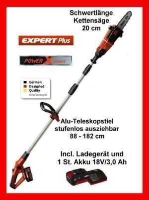 Einhell Akku-Hochentaster GE-LC 18 Li T Kit Teleskop-Kettensäge Teleskop-Astsäge
