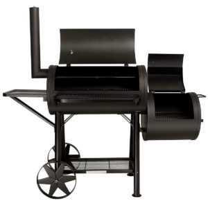 TAINO® Yuma Massiver Smoker BBQ GRILLWAGEN Holzkohle Grill ca. 90KG, 3,5mm Stahl