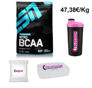 BCAA Nitro BCAA ESN 500g Pulver Aminosäuren GRATIS Bonus wählbar