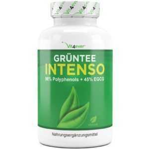Grüntee - 130 Kapseln - 685 mg - Green Tea Extrakt - Grüner Tee - Stoffwechsel