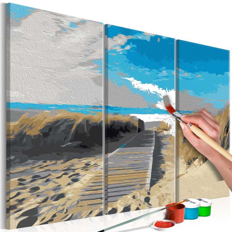 Malen nach Zahlen Erwachsene Wandbild Malset mit Pinsel Malvorlagen n-A-0236-d-e