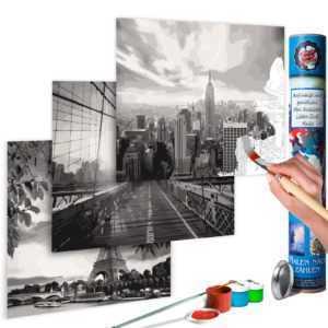 Malen nach Zahlen Erwachsene Wandbild Malset mit Pinsel Malvorlage n-A-0585-ab-e