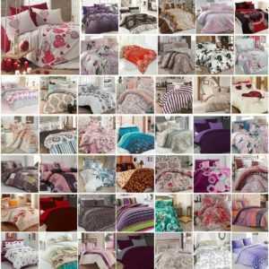 Bettwäsche 200x200 cm Bettgarnitur Bettbezug Baumwolle Kissen 5 tlg VAR #11