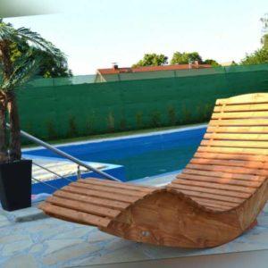 Hilmo - Holzliege Sonnenliege Schwungliege Saunaliege Gartenliege | Modell Miami