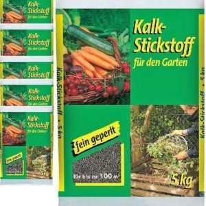 1,90€/KG - Kalkstickstoff 5kg (6x) fein geperlt Garten Dünger Gemüse Kompo