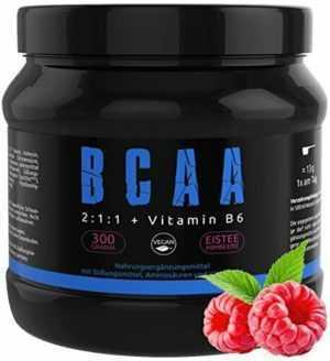 GYM-NUTRITION — BCAA + VITAMIN B6 – Amino-Säuren  EISTEE- (EISTEE-HIMBEERE)