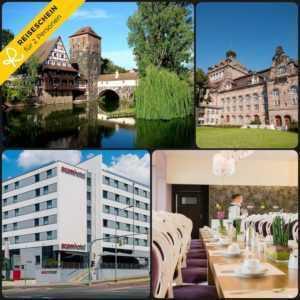 4 Tage 2P Nürnberg 3★S Hotel Kurzurlaub Hotelgutschein Urlaub Wochenend Bayern