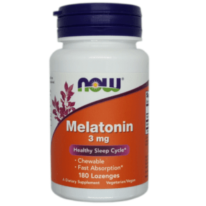 NOW MELATONIN 3mg - 180/360/540 Vegane Kapseln Besserer Schlaf JET LAG Aid
