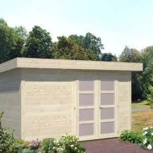 Gartenhaus 350x250 cm NEU Gerätehaus Schuppen Blockhaus Pultdachhaus Holz 28 mm
