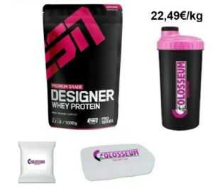 ESN Designer Whey Protein 1000g 1kg Eiweiss Sportnahrung GRATIS Bonus wählbar