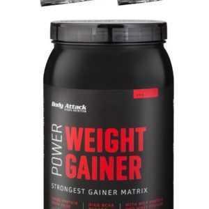 (13,- €/Kg) Power Weight Gainer Body Attack 1500g 1,5 Kg + 2 Proben