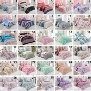 Bettwäsche Baumwolle Renforce mit Reißverschluss 2-3-5 teilig Buymax