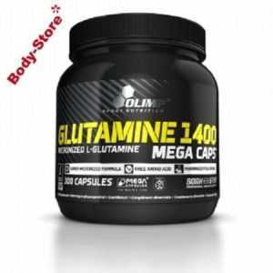 (55,17€/kg) Olimp L-Glutamine 1400 Mega Caps 300 Kapseln Stück plus PROBE 469,5g