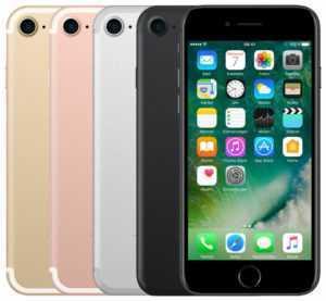 APPLE IPHONE 7 32GB 128GB 256GB SCHWARZ SILBER ROSE GOLD ROT DIAMANT - SEHR GUT
