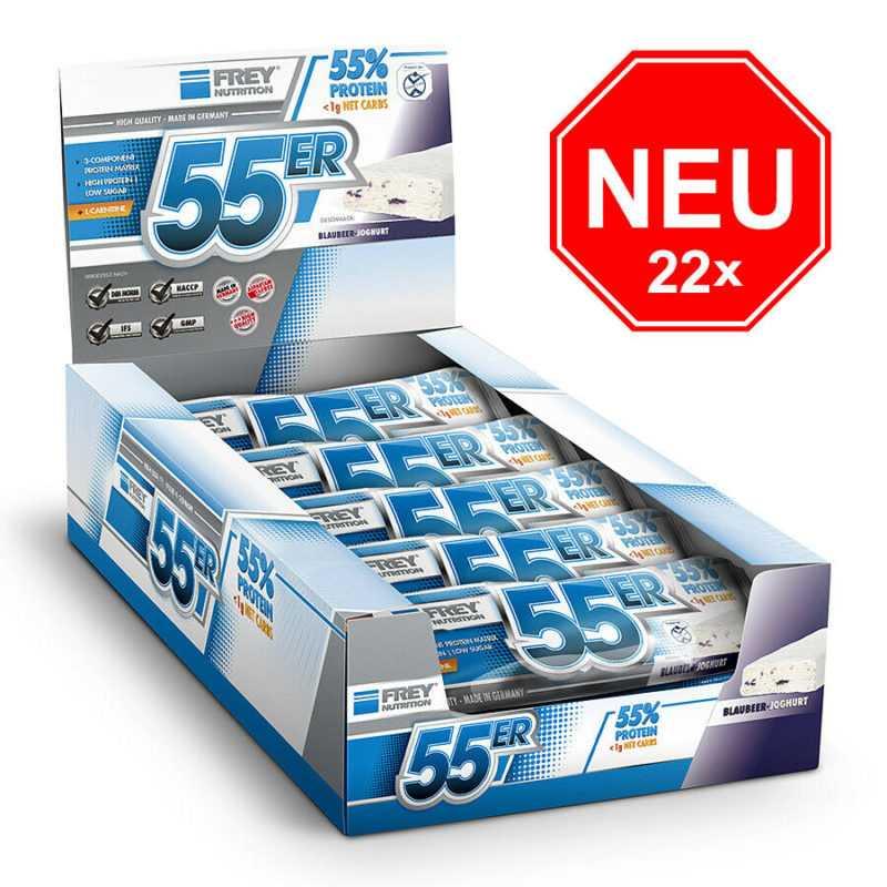 NEU!!! ❤️ 22 x 50g FREY NUTRITION 55er Riegel  Eiweißriegel Proteinbar❤️