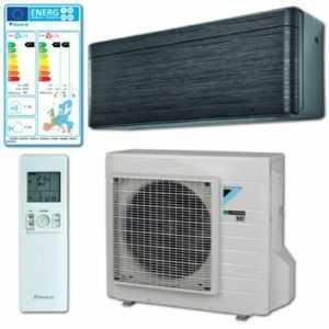Daikin Stylish R-32 Klimaanlage Mono Split 3,5kW FTXA Schwarz m. Außengerät RXA; EEK B