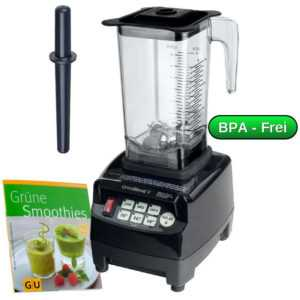Green Smoothie Maker mit kraftvollem 3PS Motor 1,5l Tritan Mixbehälter Mixer
