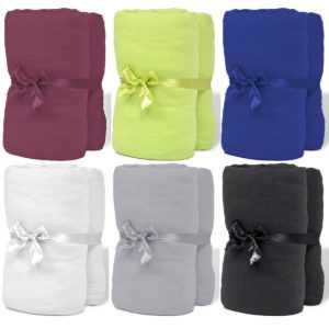 vidaXL 2x Spannbettlaken Baumwolle Spannbetttuch Bettlaken mehrere Auswahl