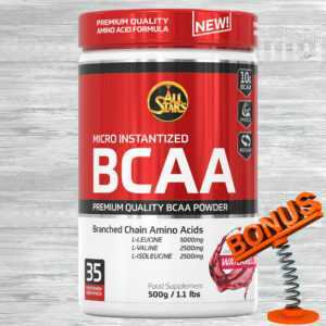 All Stars BCAA Powder 500g Dose + Bonus 58,98 €/kg AllStars Aminosäuren