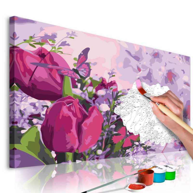 Malen nach Zahlen Erwachsene Wandbild Malset mit Pinsel Malvorlagen n-A-0322-d-a